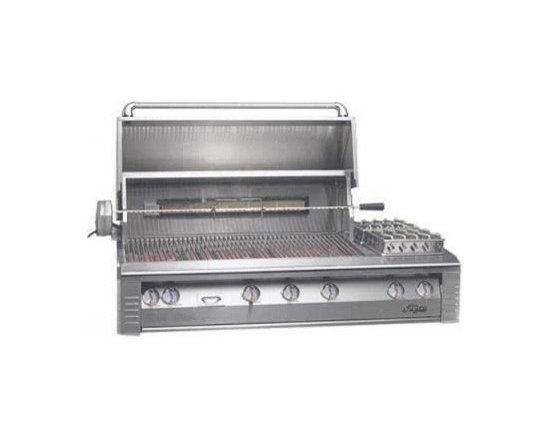 "Alfresco 56"" Built-in Sear Zone Grill, Stainless Steel Natural Gas 