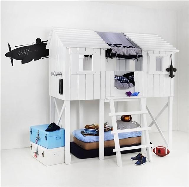 Boomhut tienerbed 90x200 (dekkend wit) beds