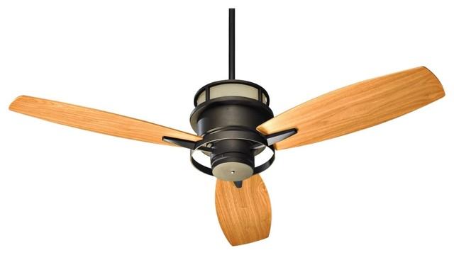"""54"""" Quorum Bristol Oil-Rubbed Bronze Ceiling Fan contemporary-ceiling-fans"""