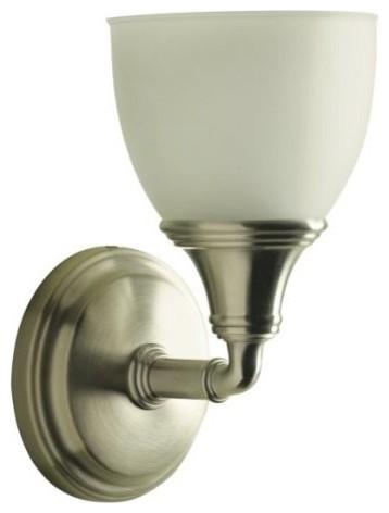 KOHLER K-10570-BN Devonshire Single Wall Sconce in Brushed Nickel traditional-bathroom-vanity-lighting