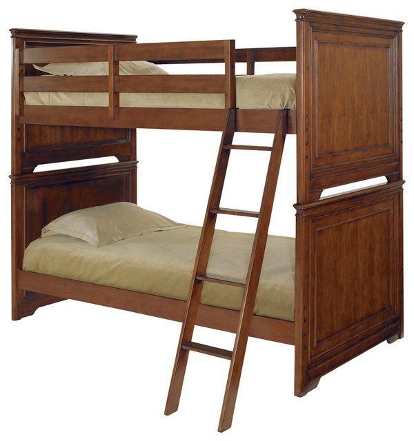 Lea Elite Classics Bunk Bed in Brown Cherry - Full over Full traditional-kids-beds