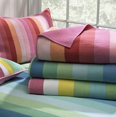 Henley Stripe Quilt & Sham contemporary-kids-bedding