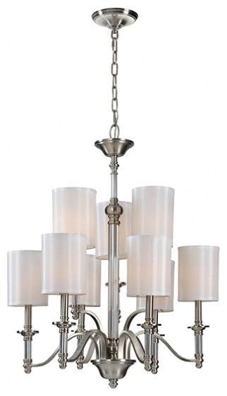 Ren-Wil LPC082 Satin Nickel Hampton Chandelier by Jonathan Wilner traditional-ceiling-lighting