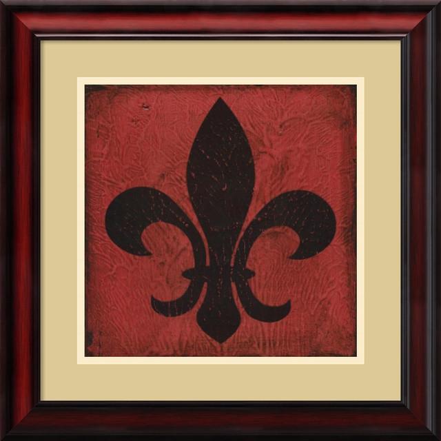 Suzanna Anna 39 Rouge Fleur De Lis 39 Framed Art Print 19 X 19