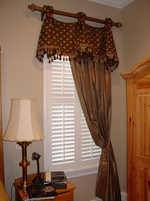Celebration Valance On Rod With Stationary Drapery Panel