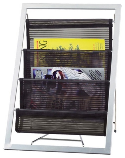 Ladder Magazine Rack Multicolor - WK7802-01 contemporary-magazine-racks