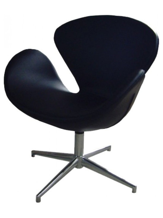 Arne Jacobsen Chair - Black - This retro style Swan Chair is a perfect statement piece in any modern home with its unique and aesthetic design. Suitable as a lounge, office or side chair it is available in two classic colour (black and cream)