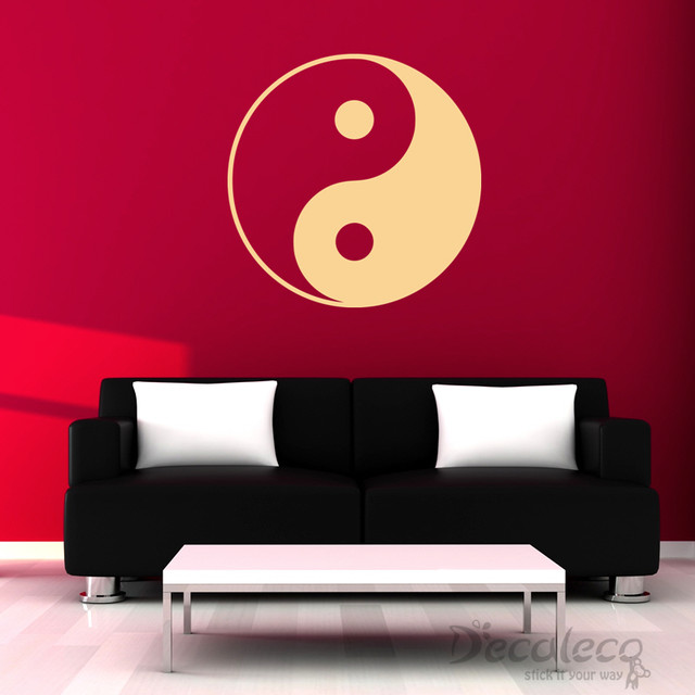 Yin yang wall decal wall decals by decaleco for Decoration murale yin yang