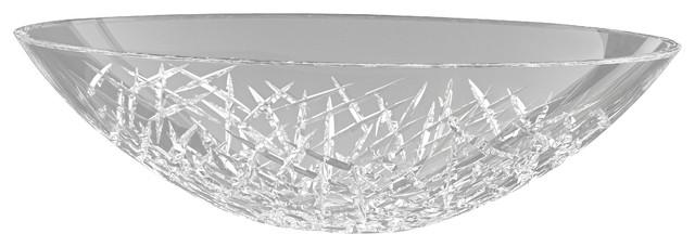 Demedici ICE Oval Crystal Vessel Sink contemporary-bathroom-sinks