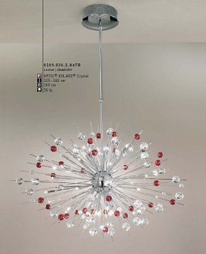 Explosion Chandelier Red Modern Chandeliers By