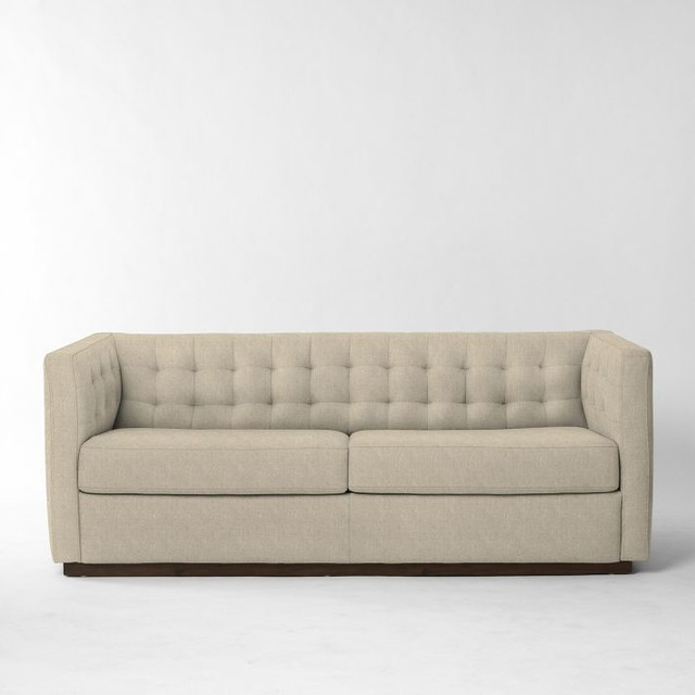 Rochester Sleeper Sofa Flax Basketweave Contemporary Sleeper Sofas By West Elm