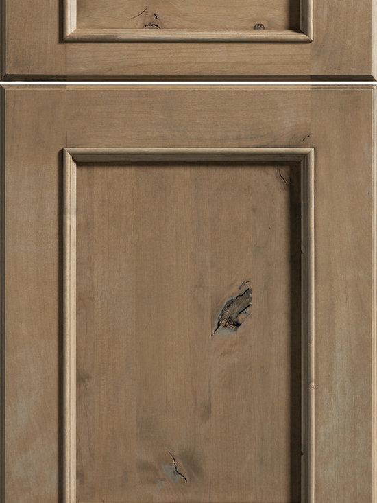 "Dura Supreme Cabinetry - Dura Supreme Cabinetry Marley Cabinet Door Style - Dura Supreme Cabinetry ""Marley"" cabinet door style in Knotty Alder shown with Dura Supreme's ""Cashew"" gray stain finish."