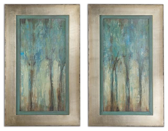 Whispering Wind Framed Art, Set of 2 traditional-artwork