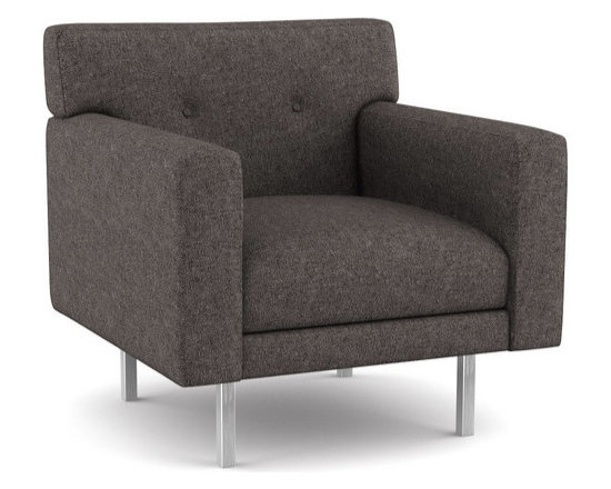 Ason Chair - This modern chair offers a very tailored look. With a very shallow frame, it fits well into small spaces. The seat and back are all built-in, so the clean lines of the chair remain intact at all times. And the buttons, an optional detail, are well suited for formal environments.Viesso designs and manufactures this piece of modern furniture. All of the chairs from the Viesso line are built one at a time in Los Angeles in 3 weeks. With all the custom options available, they are truly built for you and your space.  A custom chair that's also an eco chair. Yes, it's that good.