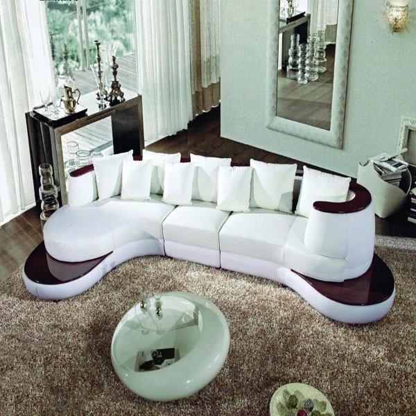 Nice Semi Modern Furniture #5: Left Arm Chaise White Chaise Sectional Sofa Modern Sofa Furniture Vig  Furniture - Modern Leather Sectional