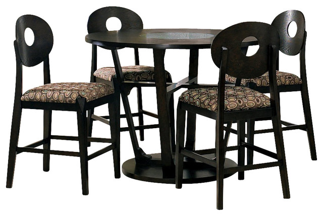 Steve Silver Optima 5 Piece 47.7 Inch Round Counter Height Set contemporary-dining-tables