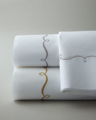 Pine Cone Hill Queen Embroidered Hem Sheet Set traditional-sheet-and-pillowcase-sets