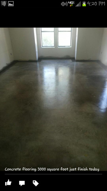 concrete staining traditional