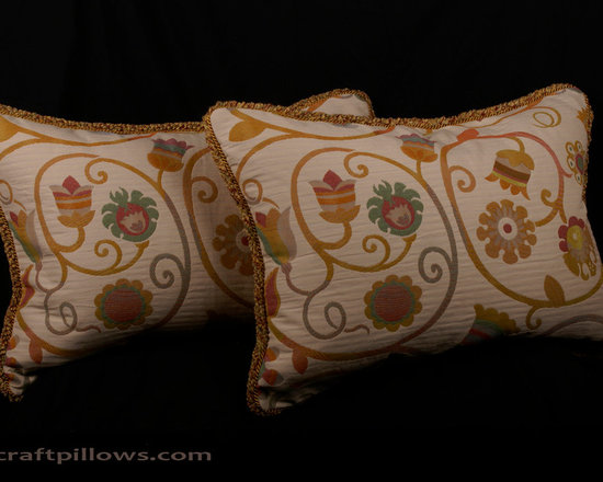 Decorative Designer Pillows by Spiritcraft Design - We design and craft decorative pillows in a variety of fabrics, styles and sizes to enhance any decor. Our decorative pillows grace the homes of our clients nationwide.  From modern and contemporary to traditional and the elegant we can help you in designing the perfect home decor accent pillows for any room.