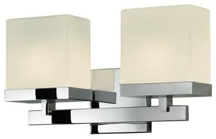 Cubist 2 Light Bath Bar | Sonneman modern-wall-lighting