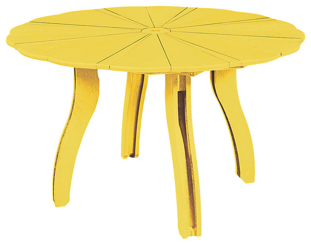 Generations 52 scalloped round dining table yellow for Round table 52 nordenham