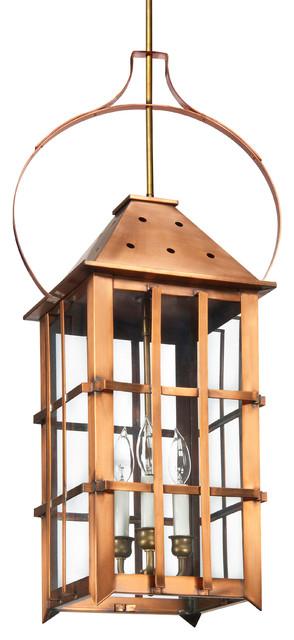 Hanging Yoke Lantern Copper Lantern Beach House Lighting Rustic Outdoor Han