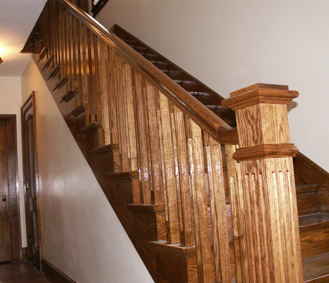 Box Newels traditional-staircase