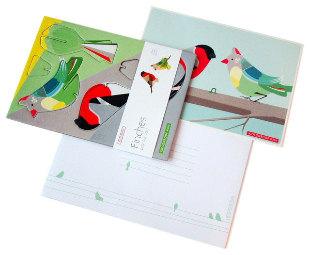 Pop Out Cards: Finches contemporary-kids-decor