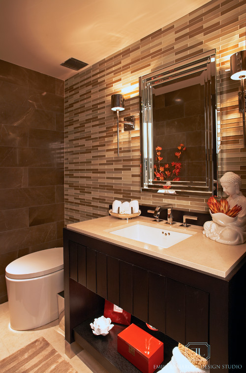 Basement Powder Room Countertops Design Ideas