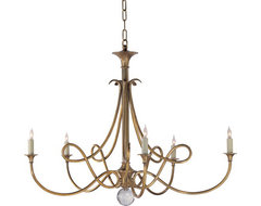 Double Twist Five-Light Chandelier traditional chandeliers
