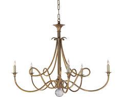 Double Twist Five-Light Chandelier traditional-chandeliers