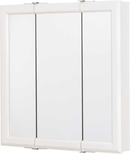 "White 24"" Triview Medicine Cabinet - Contemporary - Medicine Cabinets - by BuilderDepot, Inc."