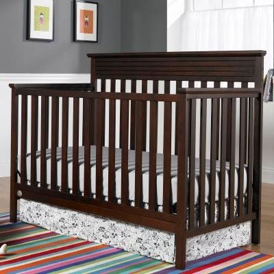 Fisher-Price Newbury 4-in-1 Convertible Crib - Cherry modern-cribs