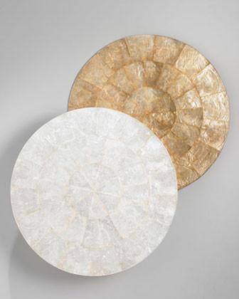 Kim Seybert Round Capiz Shell Placemat Traditional