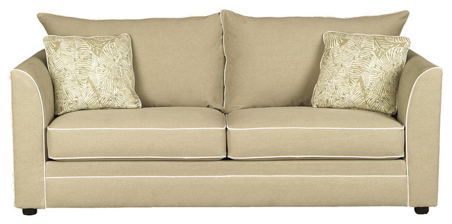 barcelona sofa in ranger twill earth contemporary