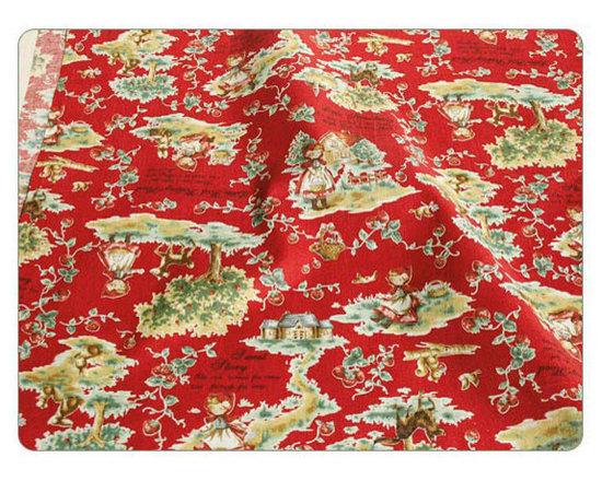 Kawaii Wonderland - Red Riding Hood fabric!  Cute story version.