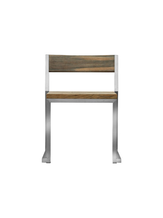 ICON Bistro Stool with Back (Stackable) - I like the style of this chair. It's modern and simple but has classic teak wood to keep it grounded.