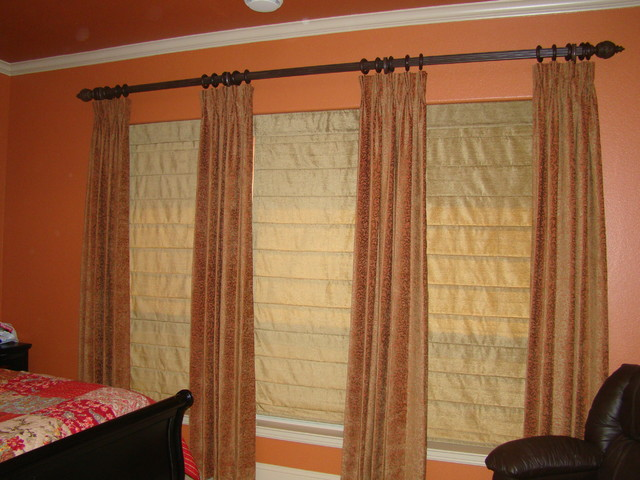 Roman shades and draperies Fort Worth TX window-treatments