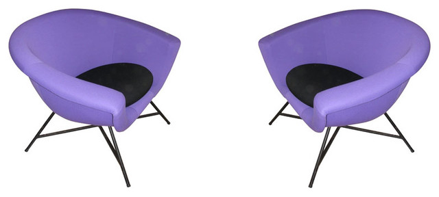 Two 1950s Armchairs By Geneviève Dangles - Eclectic ...