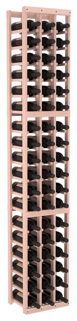 3 Column Standard Wine Cellar Kit in Redwood, White Wash + Satin Finish contemporary-wine-racks