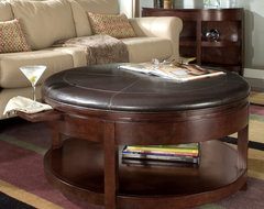 Magnussen T1096-45 Newark Wood Round Coffee Table traditional-coffee-tables