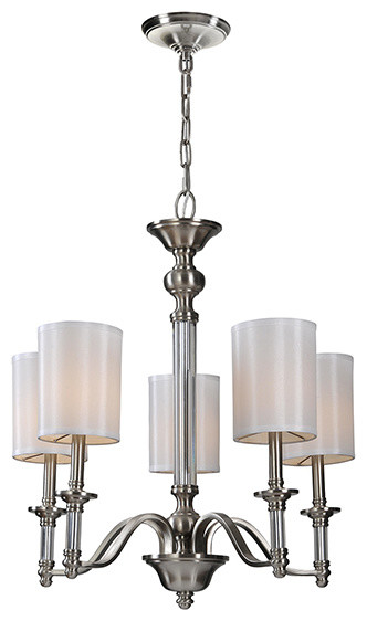 Ren-Wil LPC081 Satin Nickel Rosa Chandelier by Jonathan Wilner traditional-ceiling-lighting