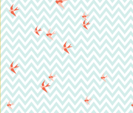 Seaside Love Chevron Fabric by Lottie Frank modern fabric