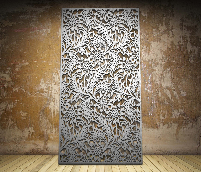 Nouveau Leaf Design Laser Cut Screen Modern Screens