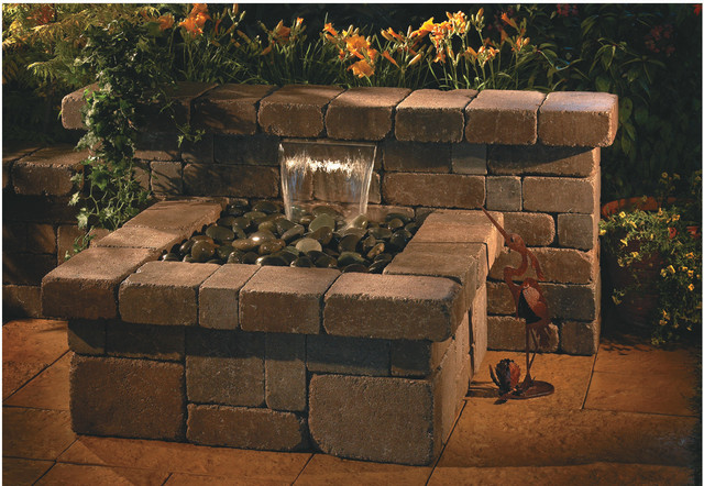 Compact waterfall necessories outdoor living kits for Garden waterfalls do it yourself