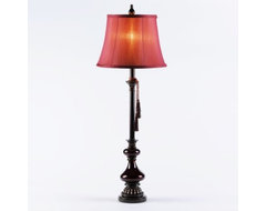 Grand Crimson Buffet Lamp traditional-table-lamps