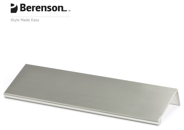 1061-4BPN-P Brushed Nickel Finger Pull by Berenson Hardware - Modern - Cabinet And Drawer Handle ...