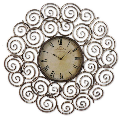 """Sassetta 24"""" Metal Wall Clock traditional-wall-clocks"""