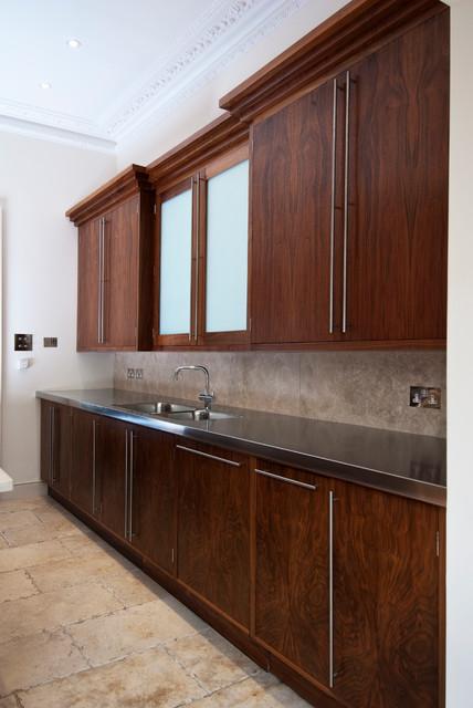 American black walnut kitchen modern kitchen other for Black walnut kitchen cabinets