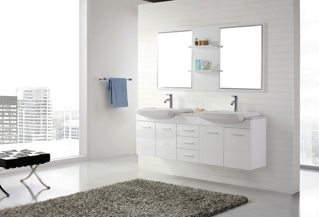1800mm wall hung white bathroom vanity roma for Bathroom cabinets 1800mm